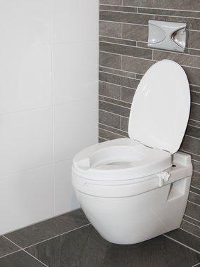 Toiletverhoger - 5 cm met deksel | Gemakkelijk te monteren